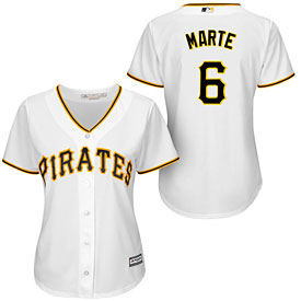 Pittsburgh Pirates Starling Marte Ladies Home Cool Base Replica Jersey