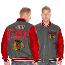 Chicago Blackhawks 6-Time Stanley Cup Champions Wool/Leather Jacket
