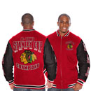 Chicago Blackhawks 6-Time Stanley Cup Champions Canvas Jacket