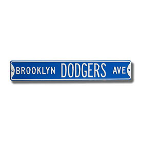 Brooklyn Dodgers Ave. Street Sign