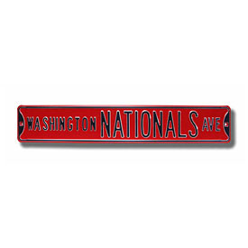 Washington Nationals Ave. Red Street Sign