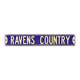 Baltimore Ravens Country Street Sign