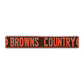 Cleveland Browns Country Street Sign