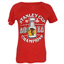 Chicago Blackhawks 2015 Stanley Cup Champions Ladies Holgun Tri-Blend T-Shirt