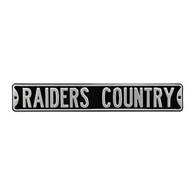 Oakland Raiders Country Street Sign