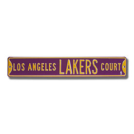 Los Angeles Lakers Court Purple Street Sign