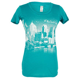 City of Philadelphia Ladies Skyline T-Shirt