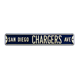 San Diego Chargers Ave. Street Sign