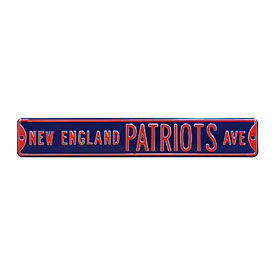 New England Patriots Ave. Street Sign