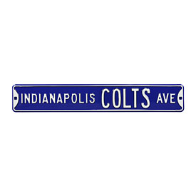 Indianapolis Colts Ave. Street Sign