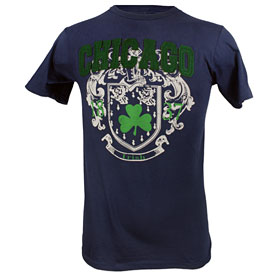 City of Chicago Navy Irish T-Shirt