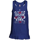 Chicago Cubs Preschool Girls Flutterball Tank Top