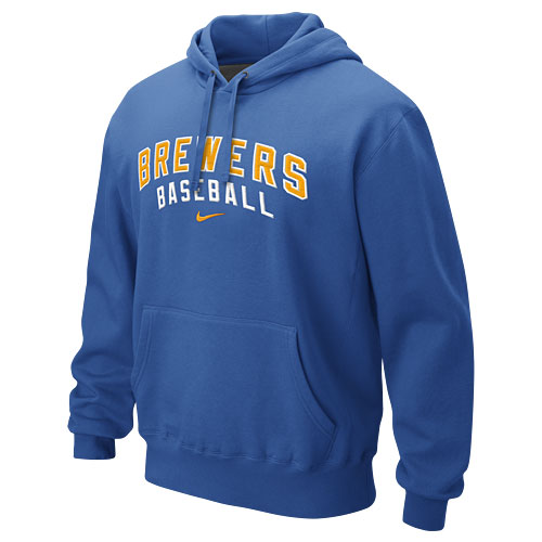 brand new 2f194 1f2d8 Milwaukee Brewers Royal Classic Pullover Hooded Sweatshirt