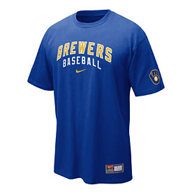 Milwaukee Brewers Royal Practice T-Shirt