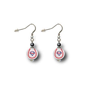 Philadelphia Phillies Logo Baseball Dangle Earrings