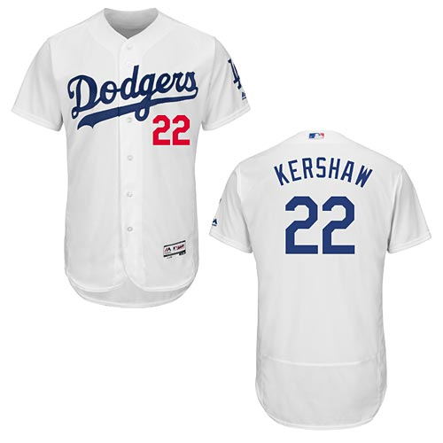 Los Angeles Dodgers Clayton Kershaw Home Flexbase Authentic Collection  Jersey bb93edeb65b