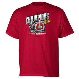 Chicago Blackhawks Youth 2013 Stanley Cup Champions Ring T-Shirt