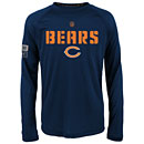 Chicago Bears Youth Squadron Long Sleeve Dri-Tek T-Shirt