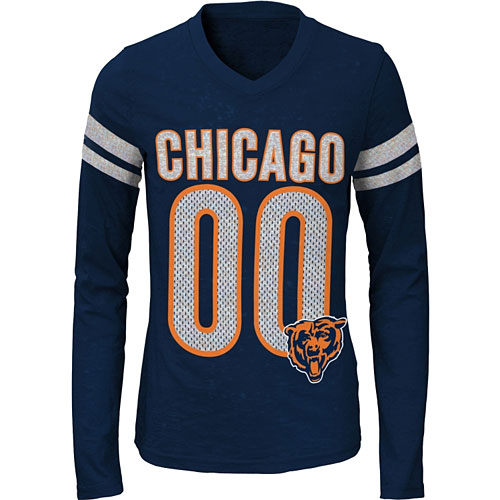 new product b7f3d e460c Chicago Bears Youth Girls Opal Long Sleeve T-Shirt