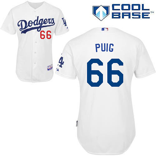 Los Angeles Dodgers Yasiel Puig Home Flexbase Authentic Collection Jersey 082ed1f9cc9