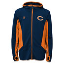 Chicago Bears Youth Strike Full-Zip Hooded Sweatshirt