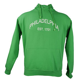 City of Philadelphia Green Established Hooded Sweatshirt