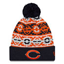 Chicago Bears Retro Chill Cuffed Knit Hat With Pom