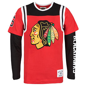 Chicago Blackhawks Youth Morely Layered Long Sleeve T-Shirt