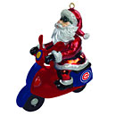 Chicago Cubs Santa Scooter Ornament