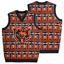 Chicago Bears Word Mark Ugly Sweater Vest