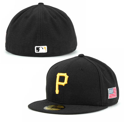 Pittsburgh Pirates Authentic Game Performance 59FIFTY On-Field Cap w US  Flag Patch a32fd791d5e0