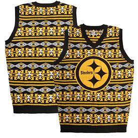 Pittsburgh Steelers Word Mark Ugly Sweater Vest