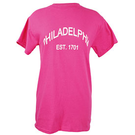 City of Philadelphia Ladies Pink Established T-Shirt