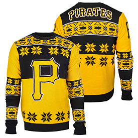 Pittsburgh Pirates Big Logo Crew Neck Ugly Sweater