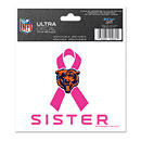 Chicago Bears Sister Breast Cancer Awareness Ultra Decal