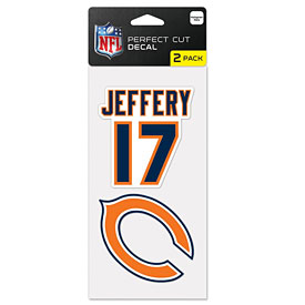 Chicago Bears Alshon Jeffery Two Pack of Die-Cut Decals