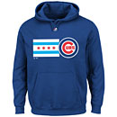 Chicago Cubs Chicago Flag Hooded Sweatshirt