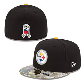 size 40 c761f 3b5ba Pittsburgh Steelers Salute to Services 5950 Fitted Cap