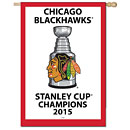 Chicago Blackhawks 2015 Stanley Cup Champions Rafter Banner