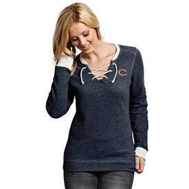Chicago Bears Ladies Rally Lace-Up Sweater
