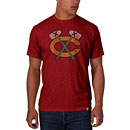 Chicago Blackhawks Red Tomahawk Scrum T-Shirt