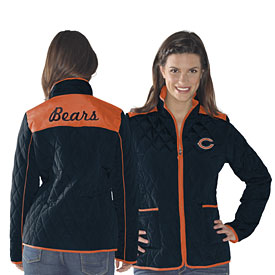Chicago Bears Ladies High Post Quilted Jacket