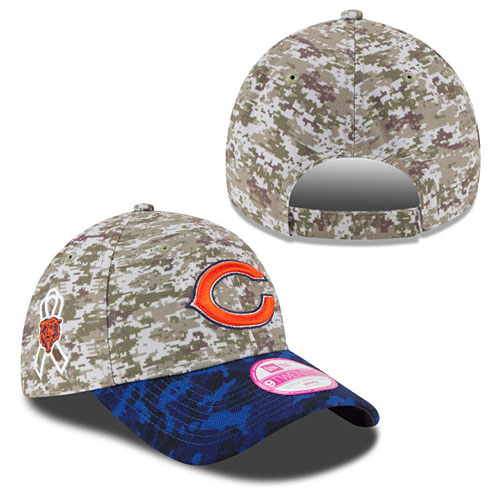 official photos 7812b 17a7a Chicago Bears Ladies Salute to Service Adjustable Cap