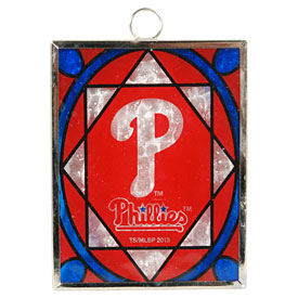Philadelphia Phillies Stained Glass Ornament