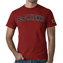 Chicago Blackhawks Red Fieldhouse Basic T-Shirt