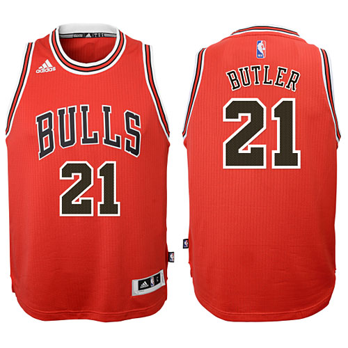 huge discount 929c9 294aa Chicago Bulls Jimmy Butler Youth Red Swingman Jersey