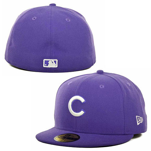 Chicago Cubs Purple 5950 Fitted Cap