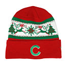 Chicago Cubs Holiday Print Knit Hat