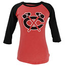 Chicago Blackhawks Ladies Mainstay Raglan Shirt