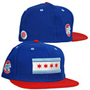 Chicago Cubs Royal Blue and Red City Flag 5950 Fitted Cap